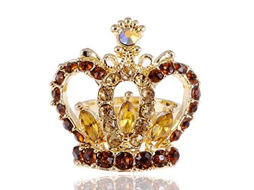 Rhinestone Crown Adjustable Ring - 8
