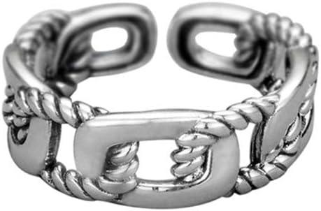 Anillo de mujer de plata de ley 925, anillo de boda ajustable antidesvanecimiento adecuado para anillos de boda para alentar joyas personalizadas regalos de cumpleaños