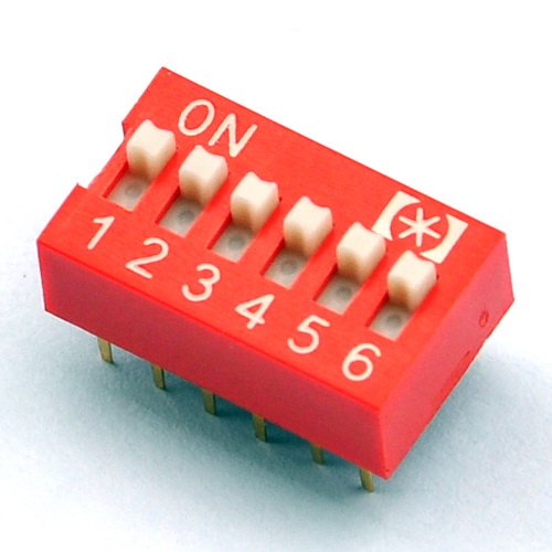 6 position dip switch - 9