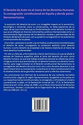 EL DERECHO DE AUTOR EN EL MARCO DE LOS DERECHOS HUMANOS. Su consagración constitucional en España y demás países iberoamericanos: Amazon.es: GÓMEZ MUCI, Gileni: Libros