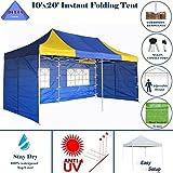 Cheap 10'x20′ Pop up 6 Walls Canopy Party Tent Gazebo EZ Blue Yellow – E Model By DELTA Canopies