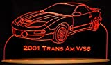 2001 Trans Am WS6 13'' Acrylic Lighted Edge Lit LED Sign / Light Up Plaque VVD9 Full Size USA Original
