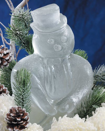 (Reusable Snowman Ice Sculpture Mold)