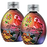 Lot 2 Ed Hardy Life Party Indoor Tanning Lotion Accelerator Bronzer Dark Tan Bed by Ed Hardy