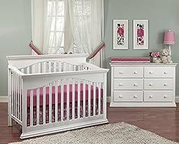 Baby Cache Greenwich Toddler Guard Rail- White