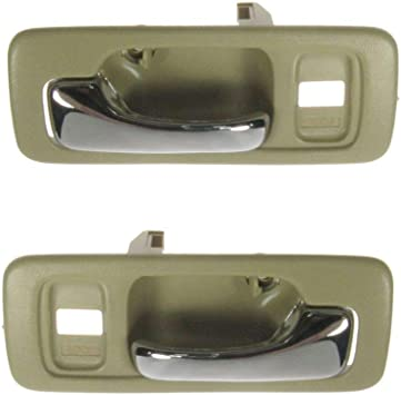 Blue Inner Inside Interior Door Handle Left /& Right Pair Set for Chevy GMC Truck