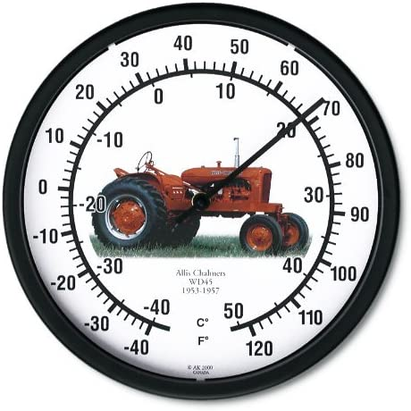 """New ALLIS CHALMERS Model WD45 Tractor Wall Clock 10/"""" Round Vintage Red Clock"""