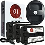 DOT-01 3x Brand Sony Alpha A99 II Batteries and Dual Slot USB Charger for Sony Alpha A99 II DSLR and Sony A99 II Battery and Charger Bundle for Sony FM500H NP-FM500H