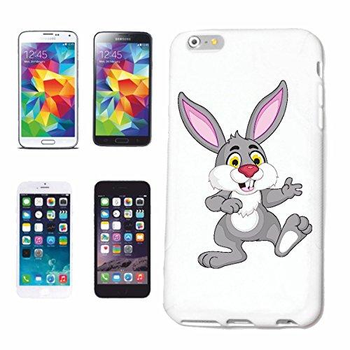 """cas de téléphone iPhone 7 """"LAPIN DRÔLE à longues oreilles LAPIN LAPIN Lapin nain LAPIN SAUVAGE"""" Hard Case Cover Téléphone Covers Smart Cover pour Apple iPhone en blanc"""