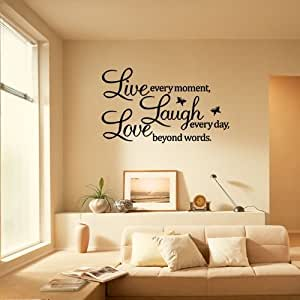 DIY Live Laugh Love Letters Vinyl Decal Removable Room Art Mural Wall Sticker Decal