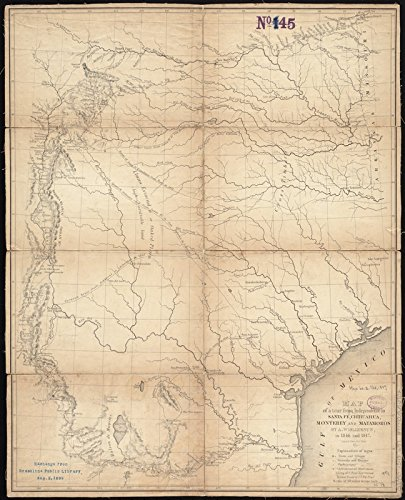 Amazon.com: Historic Map | 1848 Map of a tour from Independence to ...