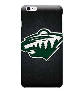 iPhone 6 Plus Case, NHL - Minnesota Wild Black Background - iPhone 6 Plus Case - High Quality PC Case