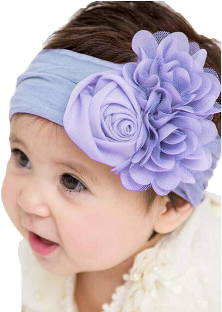 Bow Knot  Baby Girls Hair Accessories Nylon Hairband Baby Headband Pearl Flower