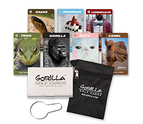 793ef32f40 Gorilla Golf Cards with Hang Bag (Black)   The On-Course Golf Betting