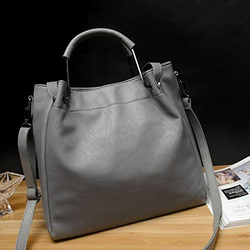 Gray Handle Bags Bags Black 2018 Genuine Party color Handbags New Outdoor Dating Commuter Business Shoulder Leatherr Top Yan fTqYS