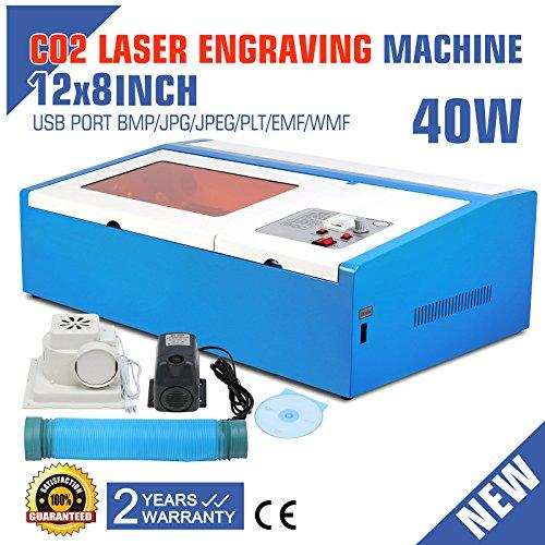 40W CO2 USB Laser Engraving Cutting Machine Engraver Wood Cutter