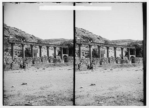 Photo: East of the Jordan,Dead Sea. Colonnade at - Map Colonnades