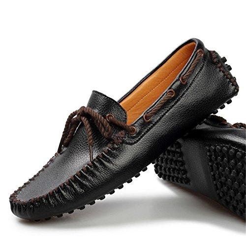 Mens Casual Slip On Boat Shoes Classico Mocassino Mocassino Driving Scarpe Mocassini 5887 Giallo