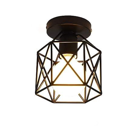 FYJK Luz Pendiente Industrial Hierro Arte Retro - la lámpara ...