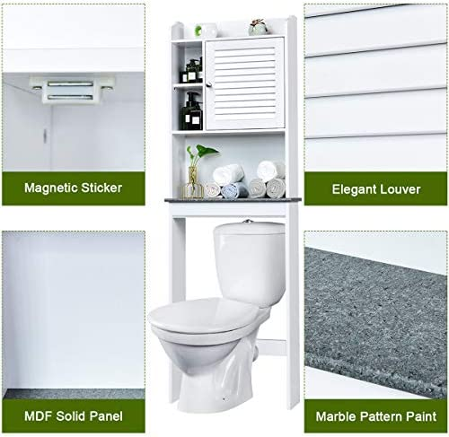 home, kitchen, furniture, bathroom furniture,  over-the-toilet storage 1 discount Giantex Over-The-Toilet Space Saver Collette Bathroom in USA