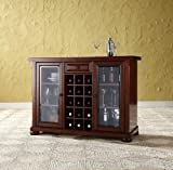 Crosley Alexandria Sliding Top Bar Cabinet, Vintage Mahogany