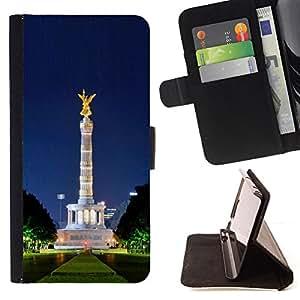 DEVIL CASE - FOR Samsung Galaxy S3 Mini I8190Samsung Galaxy S3 Mini I8190 - Architecture Park Statue - Style PU Leather Case Wallet Flip Stand Flap Closure Cover