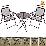 STRONG CAMEL Bistro set Patio Set Table and Chairs Outdoor Wrought Iron CAFE set METAL-Coffee For Sale