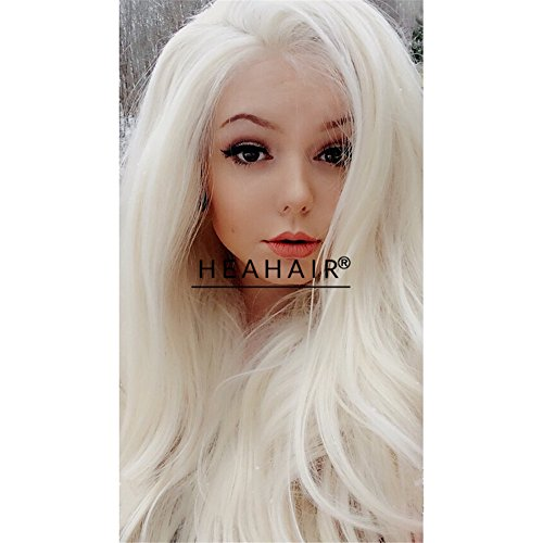 Heahair Heat Friendly Fiber Women Long White Blonde Strai...