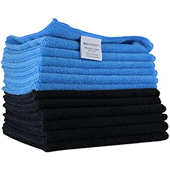 Microfiber Cleaning Cloth By MIMAATEX-12 Pack-16x16 inches-300 GSM-Lint Free-Streak Free