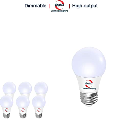 Explux Dimmable A15 Led Bulbs Hi Output 600 Lm 3000k 60w Ceiling