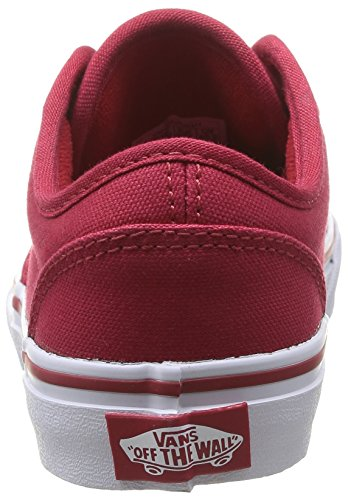 Yt 0znr5gh Boys' Atwood Sneakers Red Vans Low White Top OS7Z5qw