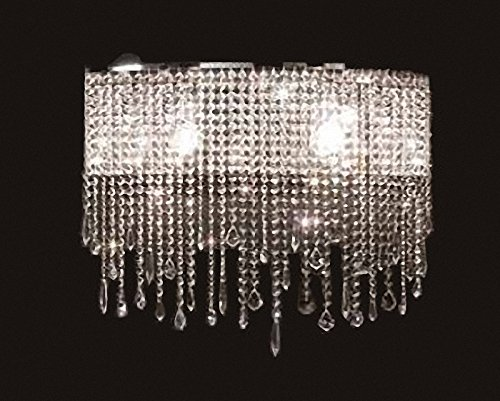 Siljoy Modern Crystal Wall Sconce Chandelier Contemporary Wall Lamps