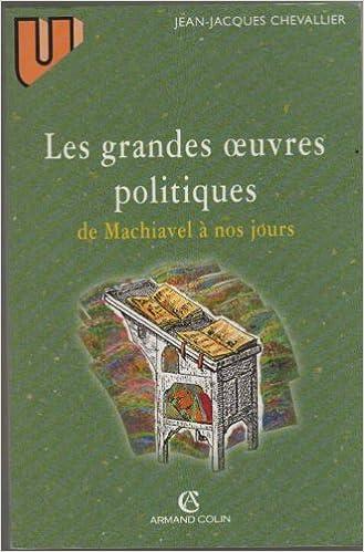 Lecteurs MP3 de livres audio téléchargeables gratuitement LES GRANDES OEUVRES POLITIQUES DE MACHIAVEL A NOS JOURS PDF RTF by Jean-Jacques Chevallier