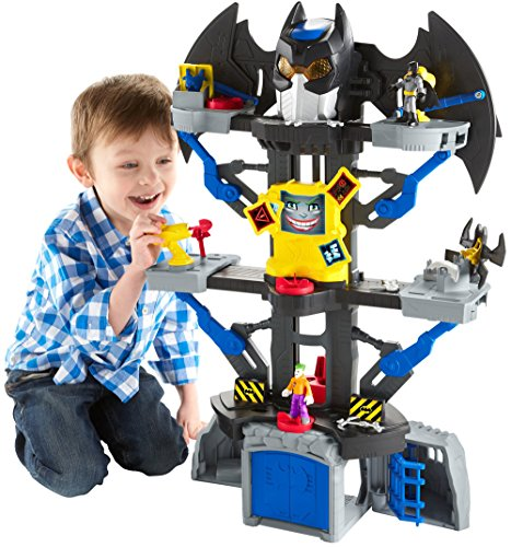 Fisher Price Imaginext DC Super Friends Transforming Batcave What Present To Get 4 Year Old Boys