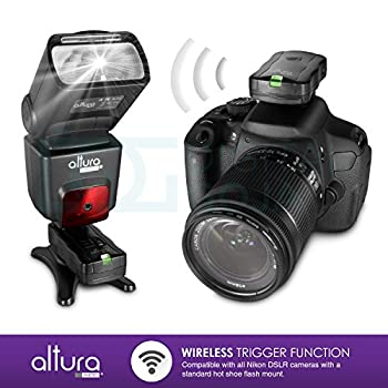 Altura Photo Professional Flash Kit For Nikon Dslr - Includes: I-ttl Flash (Ap-n1001), Wireless Flash Trigger Set & Accessories 14