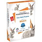 Hammermill Paper, Fore Multipurpose Paper, 8.5 x 11 Paper, Letter Size, 3 Hole, 24lb Paper, 96 Bright, 1 Ream / 500 Sheets (101287R) Acid Free Paper