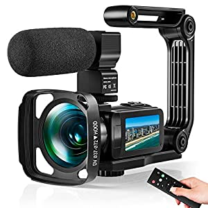 Flashandfocus.com 51dms8k1GDL._SS300_ Video Camera Ultra 2.7K Camcorder HD 36MP Digital Vlogging Recorder with IR Night Vision and 16X Digital Zoom Equipped…