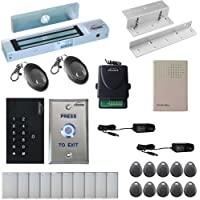 Visionis FPC-5335 One Door Access Control Inswinging Door 300lbs Maglock with vis-3002 Indoor use only Keypad/Reader Standalone no software em card compatible 500 users Wireless Receiver Kit