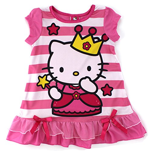 - SANRIO Princess Hello Kitty Girls Pink Nightgown Pajamas (8)
