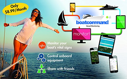 Boat Command GPS Tracking Monitoring Protection Yacht Fishing Sailboat Battery Telematics Alerts Remote Control ()