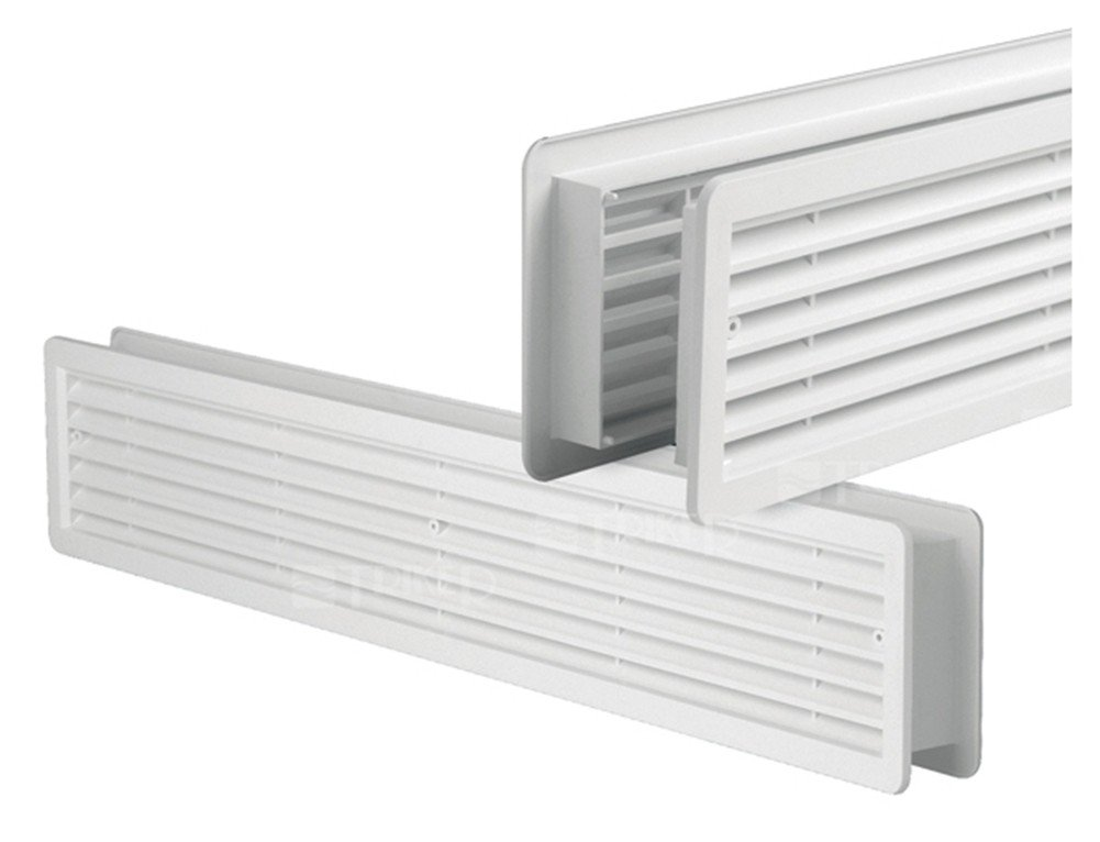 400 x 130 mm opaca su entrambi i lati da montare successivamente per bagno in plastica ASA bianco cucina Griglia di ventilazione per porta