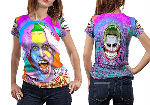 Nicoci3 The Joker Fictional Supervillain Woman TOP Shirt Custom Fullprint Sublimation Size S - XXXL (T-Shirt, Small)]()