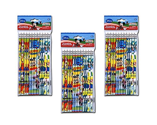 3-Pack Disney Mickey Mouse Clubhouse 12-count #2 Wood Pencils (36 Total)