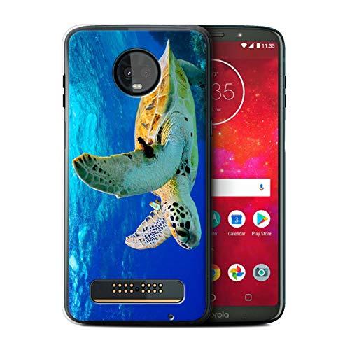 (eSwish Phone Case/Cover for Motorola Moto Z3 Play 2018 / Turtle Design/Wildlife Animals Collection)