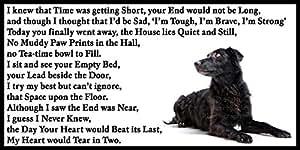 Color negro para el circuito de control del perro del animal doméstico del perro del duelo de la condolencia pérdida/magnético Flexible memorial del imán del refrigerador de muestra
