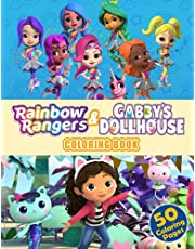 Rainbow Rangers & Gabby's Dollhouse Coloring Book: Awesome Premium 2 IN 1 Combo Coloring Book With Rainbow Rangers & Gabby's Dollhouse Illustrations For Kids, Children, Preschool, Kindergarten