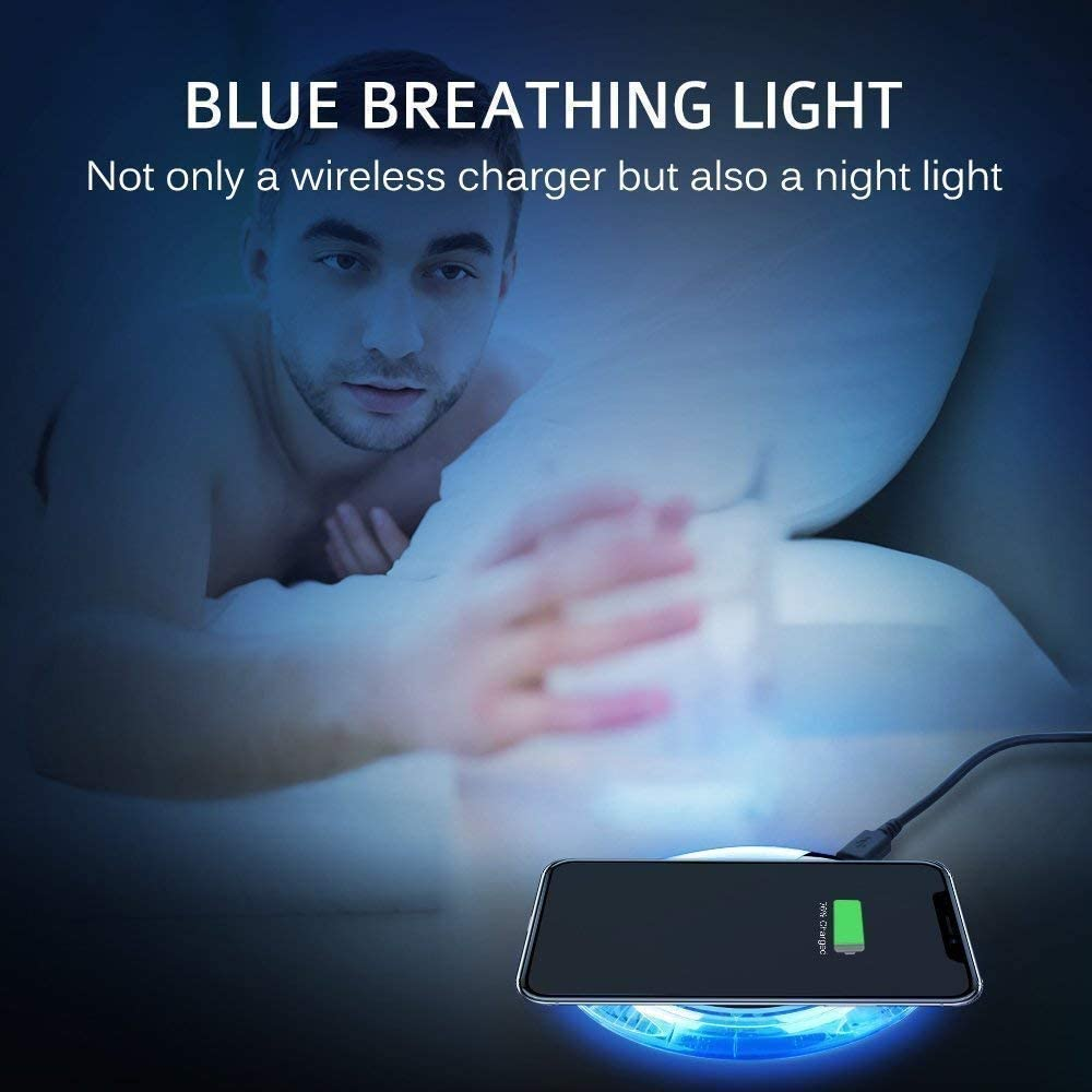 2019 Updated Wireless Charger Qi Wireless Charger Pad Compatible with /¡Phone Xs MAX XR X 8 8 Plus 7 7 Plus 6s 6s Plus 6 6 Plus and More ZON004