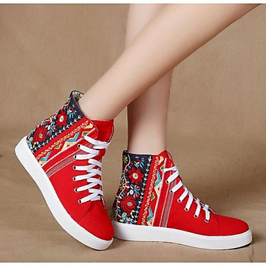 La mujer Confort Primavera Botas Casual Canvas Screen Color