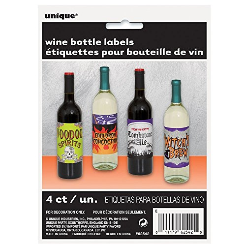 Halloween Wine Bottle Labels, 4ct ()