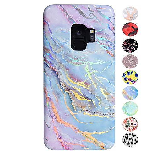 (Velvet Caviar Holographic Pink Blue Marble Samsung Galaxy S9 Case - Cute Premium Protective Moonstone Phone Cases for Girls Women [Drop Test Certified Cover for Galaxy S9])